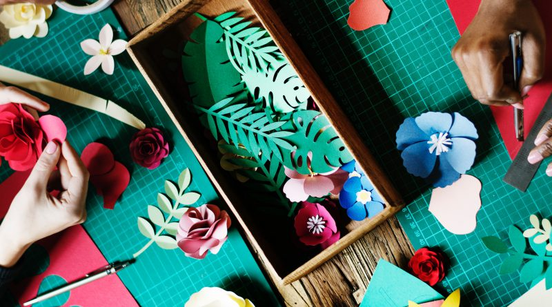 arts and crafts for paper flowers